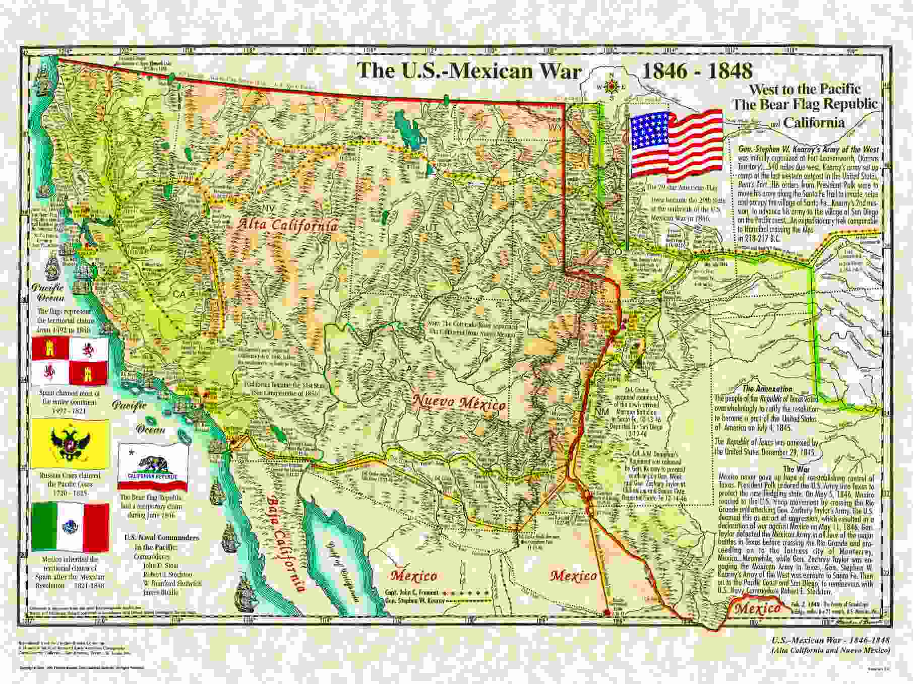 U S Mexican War 1846 48 And Bear Flag Republic