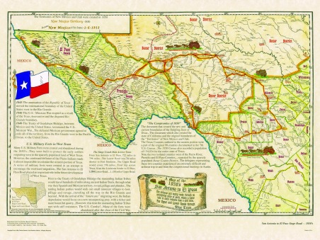 Historical Texas Maps Texana Series - Us map san antonio