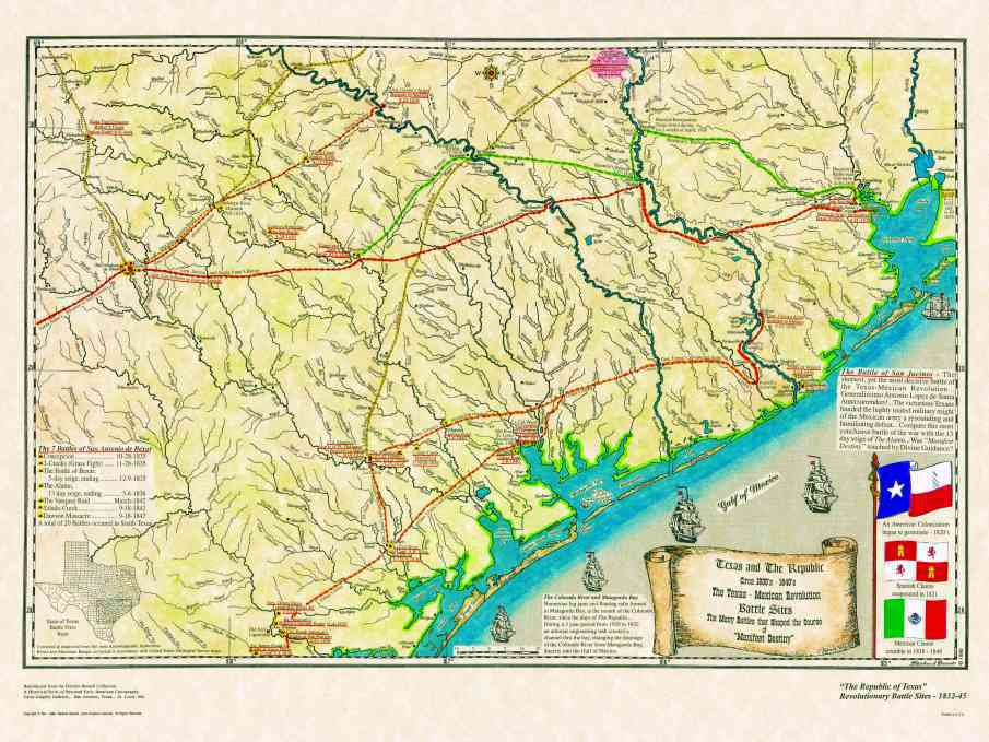 Historical Texas Maps Texana Series - San antonio on us map