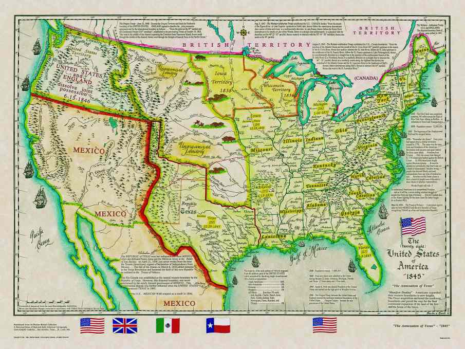 Mexico Map 1850.Historical Texas Maps Texana Series