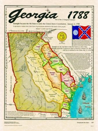 Original States - Map of southern us states