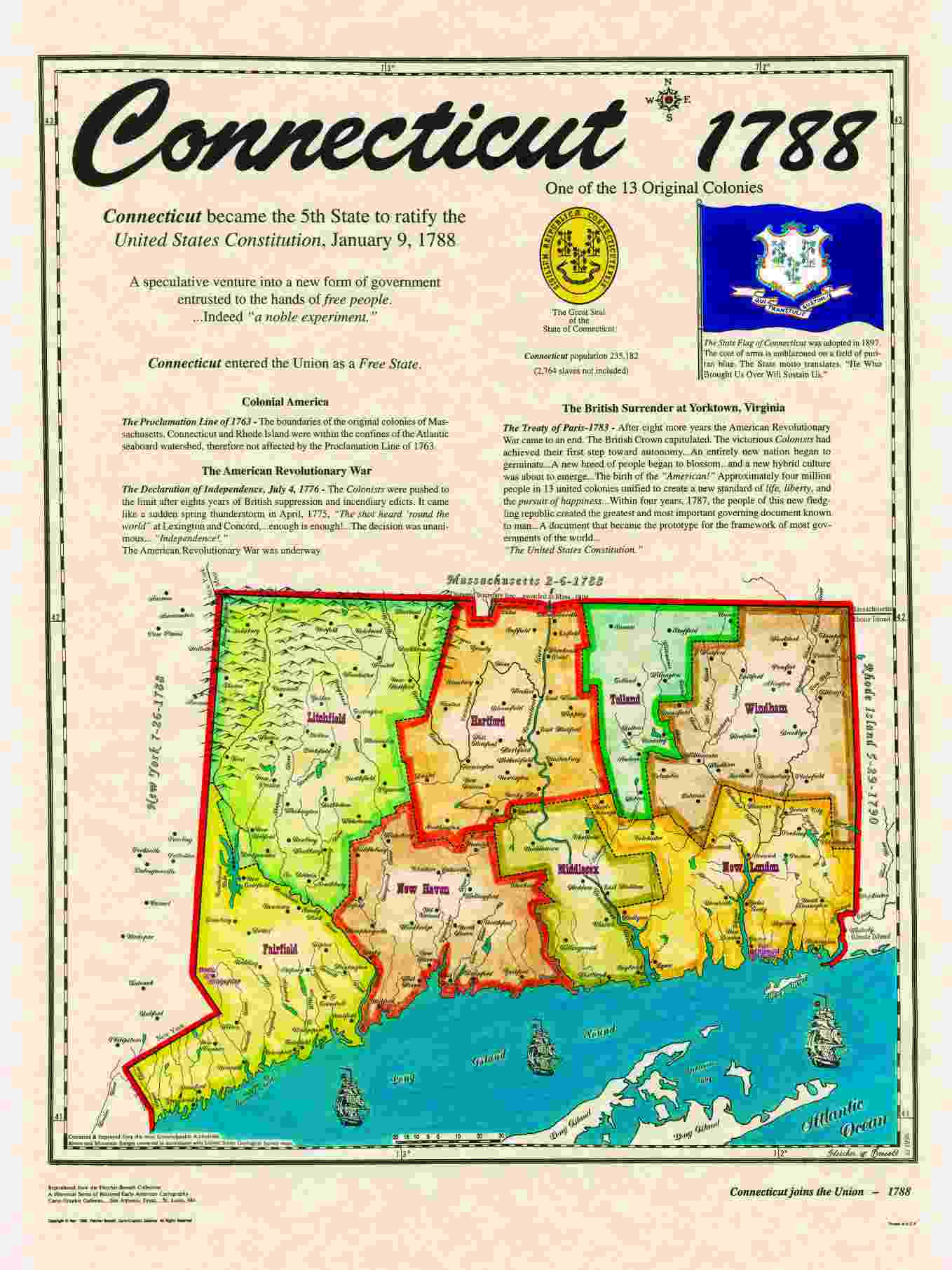 Original  States - Staes on us map connecticut
