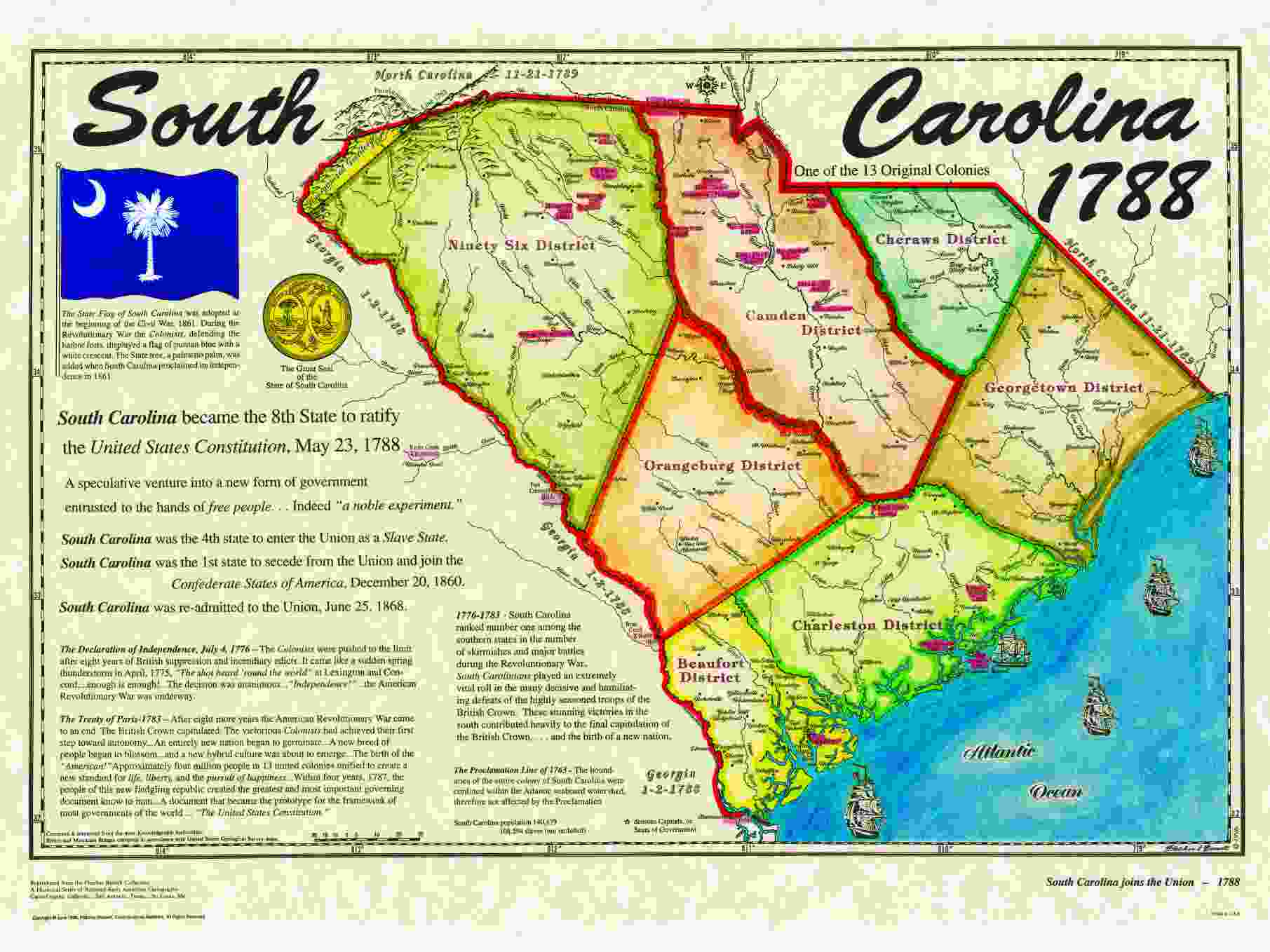 North Carolina 13 Colony Map  Wwwgalleryhip  The