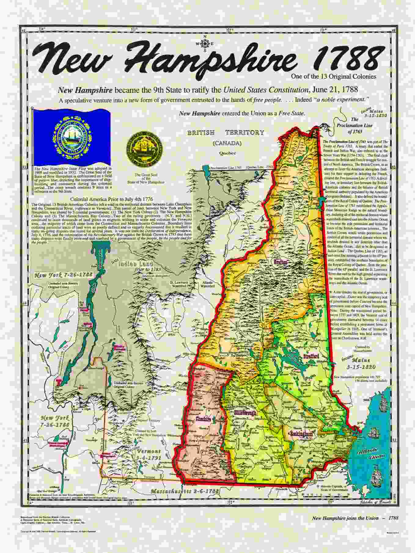 Original States - New hampshire in us map