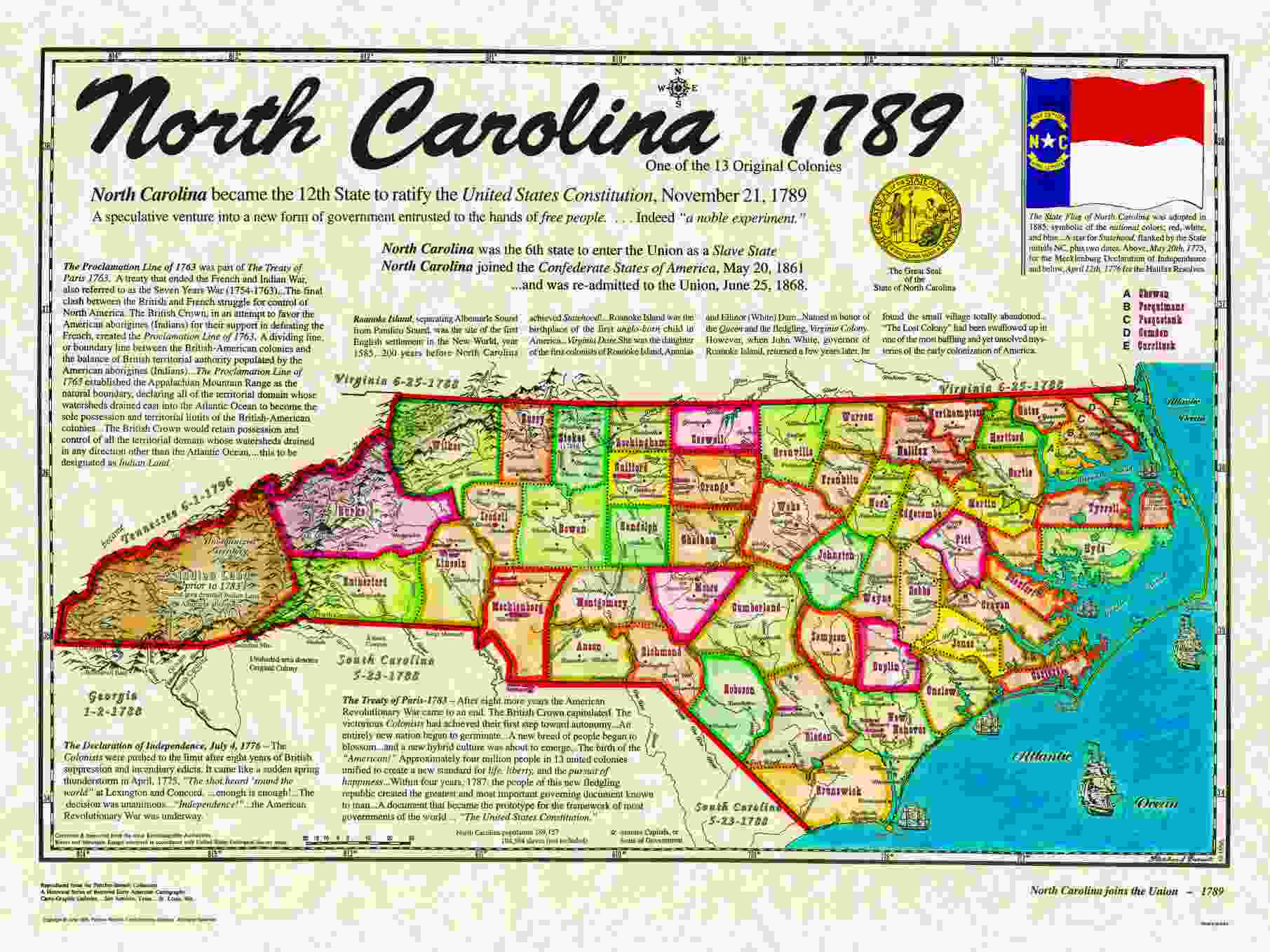 1790 George Washington - North Carolina ratifies the Constitution ...