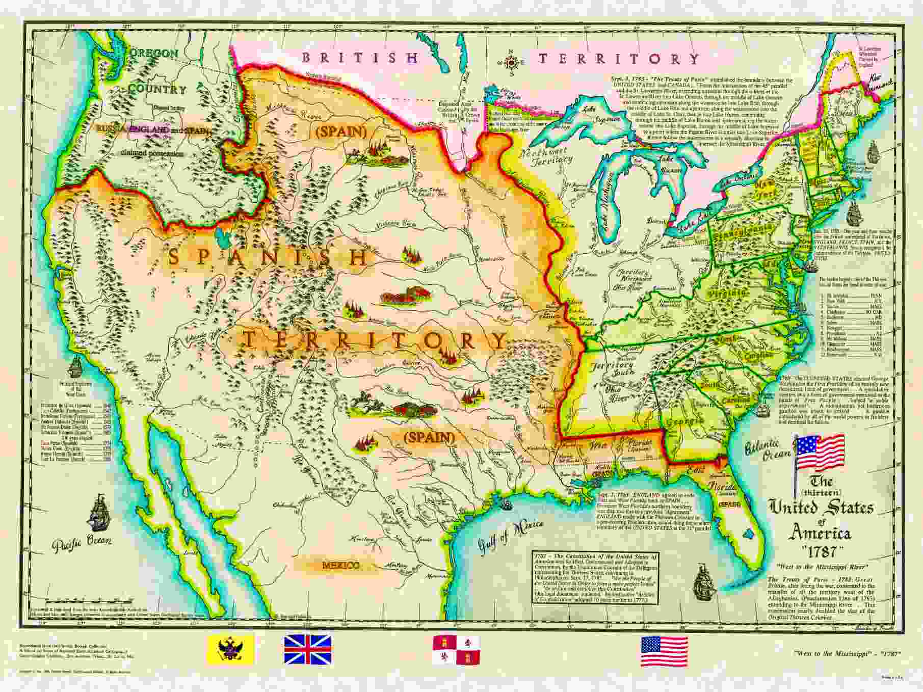 US Historical Series - Map of us in 1776