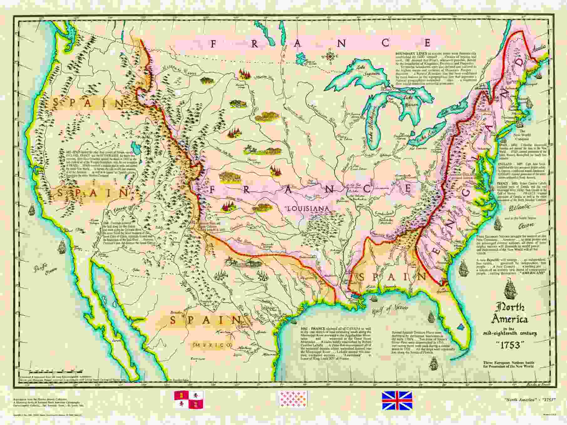 US Historical Series - Us mountain map