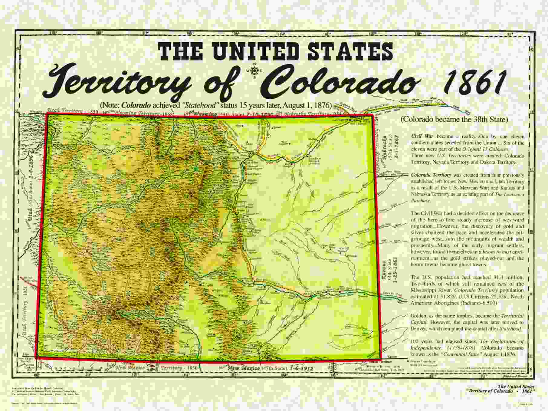 Unitedstatesterritories - Us map 1861
