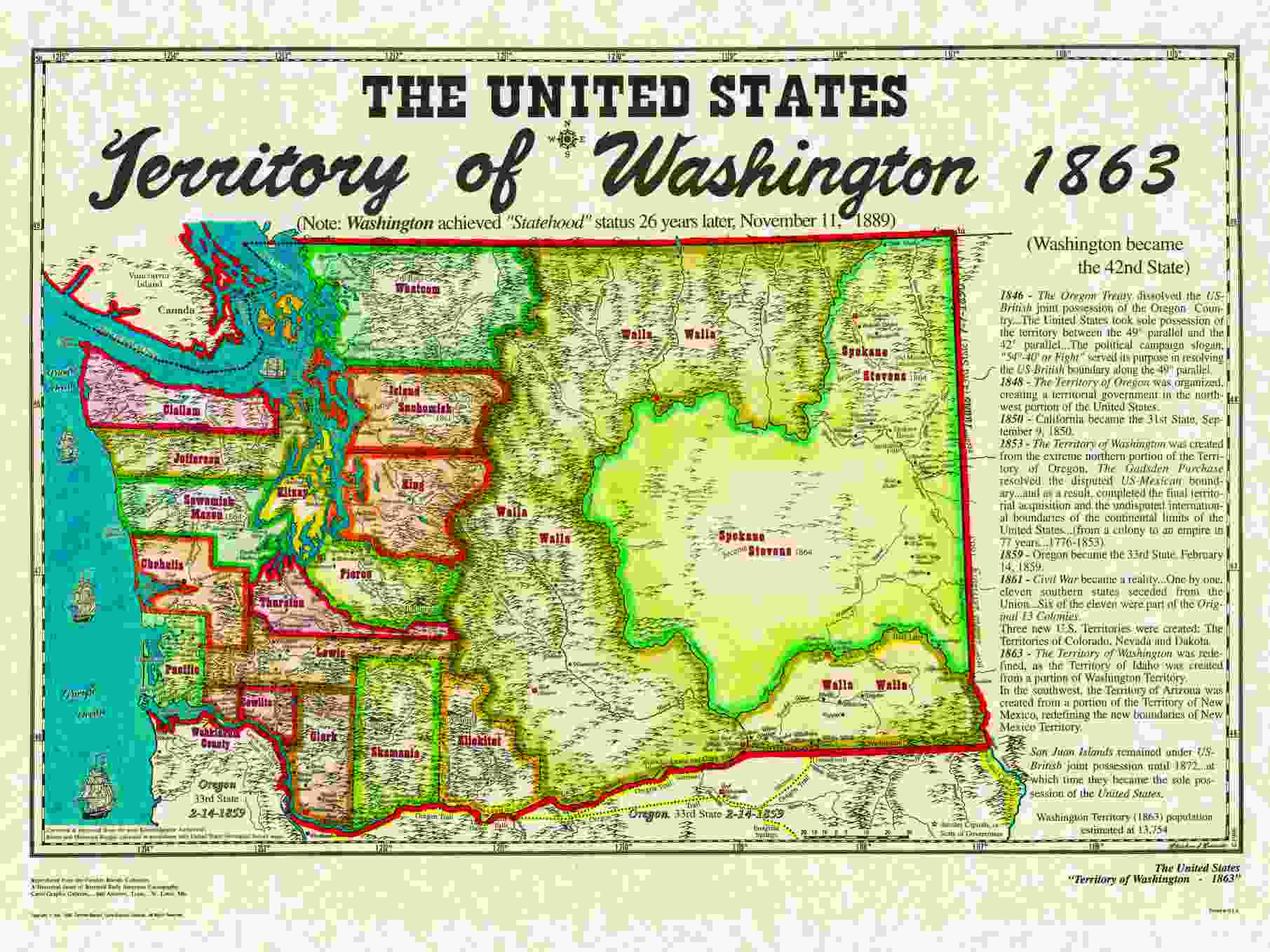 Unitedstatesterritories - Map of us 1861